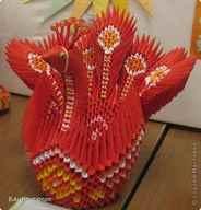 Схема оригами «птица счастья»