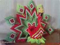схему птицы оригами из