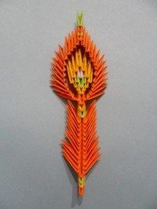 Жар птица из оригами подробно
