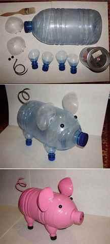 Поделки из бутылок как сделать