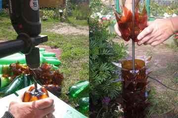 Пальма из пластиковых бутылок мастер класс с пошаговым
