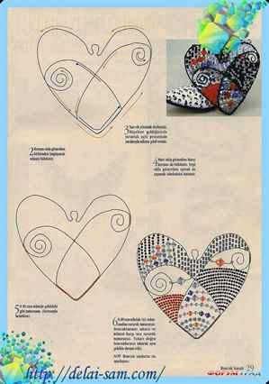 Сердечки из проволоки и бисера своими руками 27