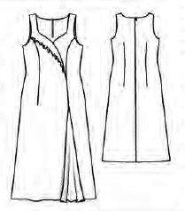 Длинное платье с длинным рукавом сшить выкройка