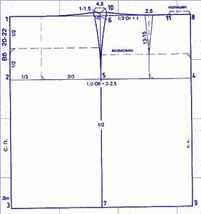 выкройка для туники 46 размера