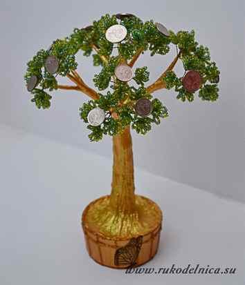 Денежное дерево из купюр своими руками фото