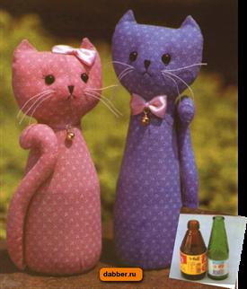 Коты из пластиковых бутылок своими руками