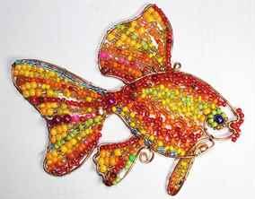Золотая рыбка из проволоки