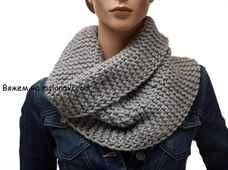 Вязание шарфа снуда для женщин спицами: схема c описанием