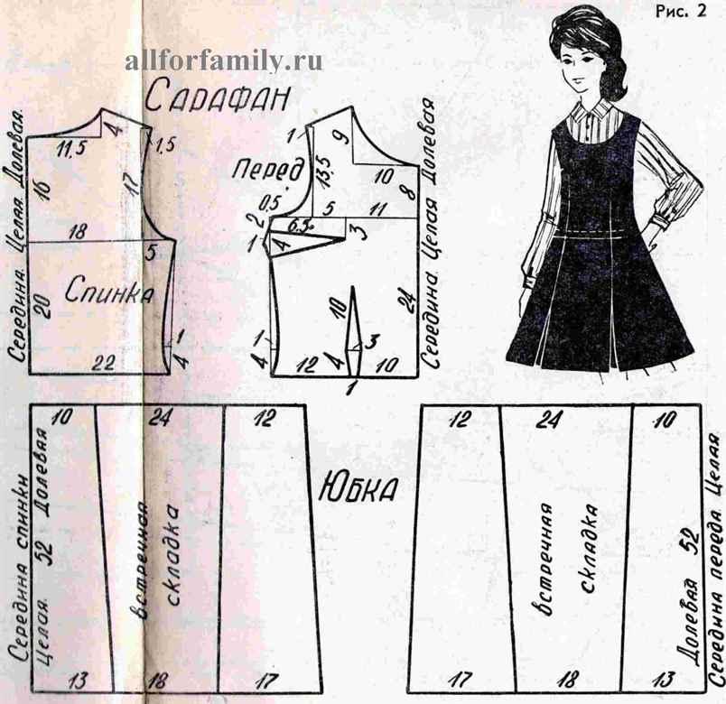 Выкройка школьной юбки для девочки своими руками