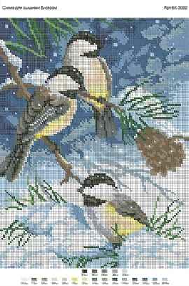 Снегири на заснеженной ветке:
