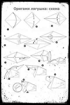 Оригами из бумаги видео для начинающих лягушка
