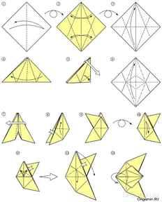 Птица оригами из бумаги видео
