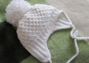 Как связать шапочку для младенца спицами