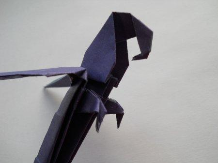 попугай оригами; схема