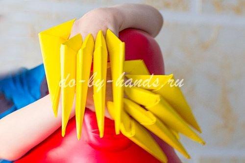 как сделать когти оригами