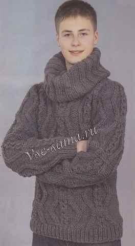 Как просто связать мужской свитер спицами