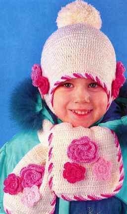 Вязание крючком для девочек на зиму 555