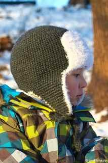Вязаная шапка ушанка своими руками 72
