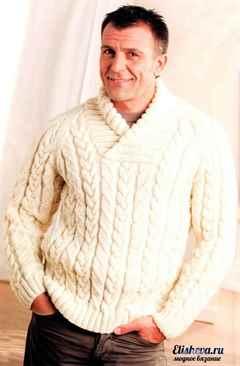 Как связать свитер мужской
