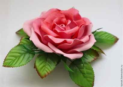 Большие розы из фоамирана мастер класс с пошаговым 112