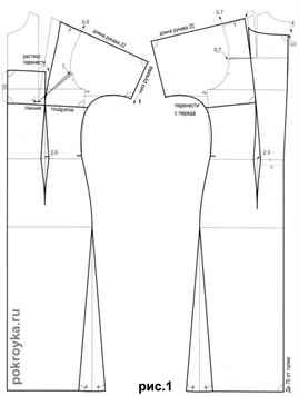 Выкройка трикотажного платья с рукавами А. Корфиати 25