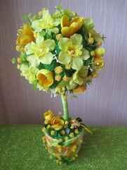 Топиарии из искусственных цветов