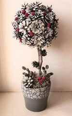 новогодний топиарий своими руками елка