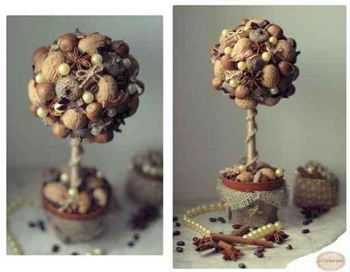 Как сделать дерево из шишек своими руками