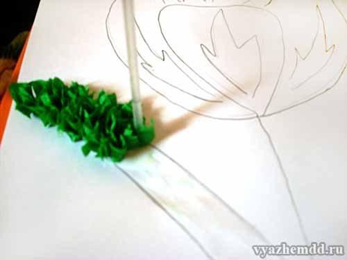 Как сделать из гофрированной бумаги торцевание