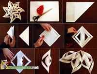 Как сделать снежинку из бумаги своими руками схемы фото
