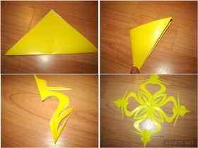 Как сделать из бумаги снежинку для 3 класса самая легкая