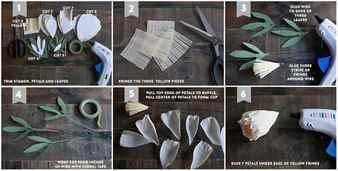 Большие пионы из гофрированной бумаги пошаговое