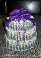 Денежный торт на свадьбу 3000