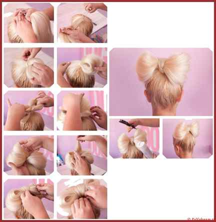Как сделать прическу с бантиков из волос