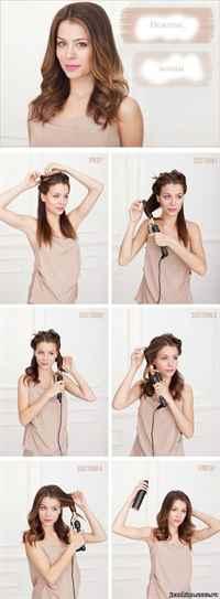 Как сделать длинную волосу укладку