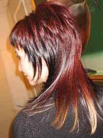 Удлиненный каскад на средние волосы