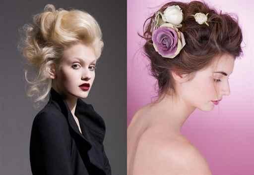 Праздничные укладки на средние волосы