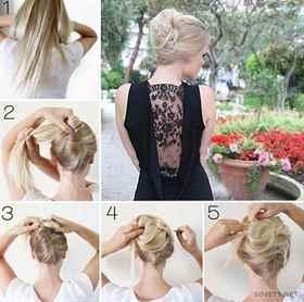 Как сделать прическу из длинных волос свадебную