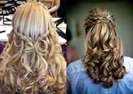 Прически кудри на средние распущенные волосы