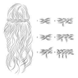 А вот как выглядит коса