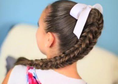 Видео прически плетения кос с длинными волосами