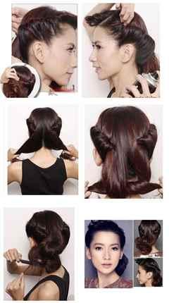 Прическа на волосы средней длины своими руками фото как делать