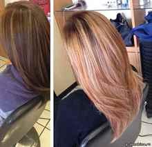 Лесенка на длинные волосы сзади фото сзади