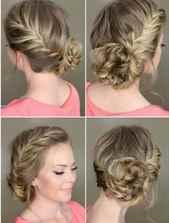 Видео причесок с плетением на короткие волосы