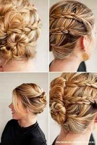 Фото причесок на каждый день на средние волосы из кос