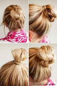 Заколоть волосы средней длины в домашних условиях 941