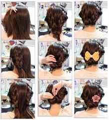 Прическа на средние волосы дома своими руками