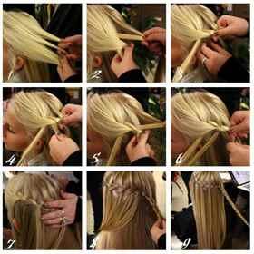 Как сделать прическу с косичек
