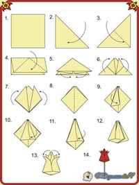 Как сделать из бумаги тюльпан поэтапно оригами