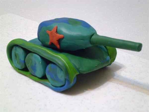 Как слепить из пластилина танки поэтапно
